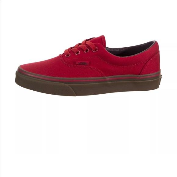 Vans Era Canvas Racing Red Gum Sole